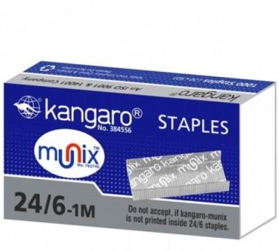 Kangaro Manual 24/6-1M Stick Staples(Set of 2, Silver)