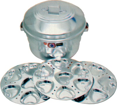 THW Heart Idly With 21 Heart Shaped Moulds Aluminium Steamer(9 L)