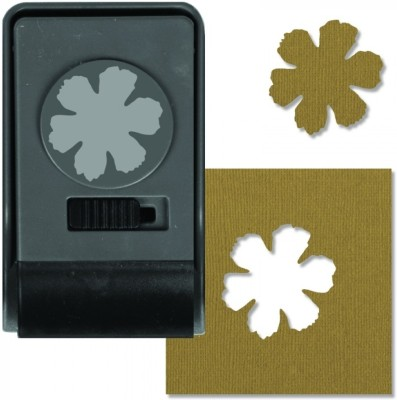 SIZZIX Paper Punch - Tattered Flower, Large 660174 Decorative Stencil