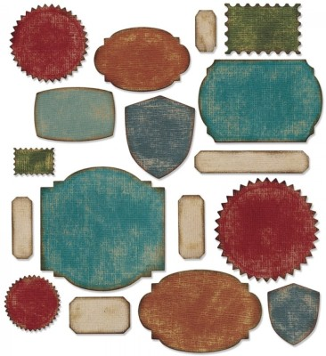 SIZZIX Thinlits Die Set 17PK - Labels 660060 Labels Stencil