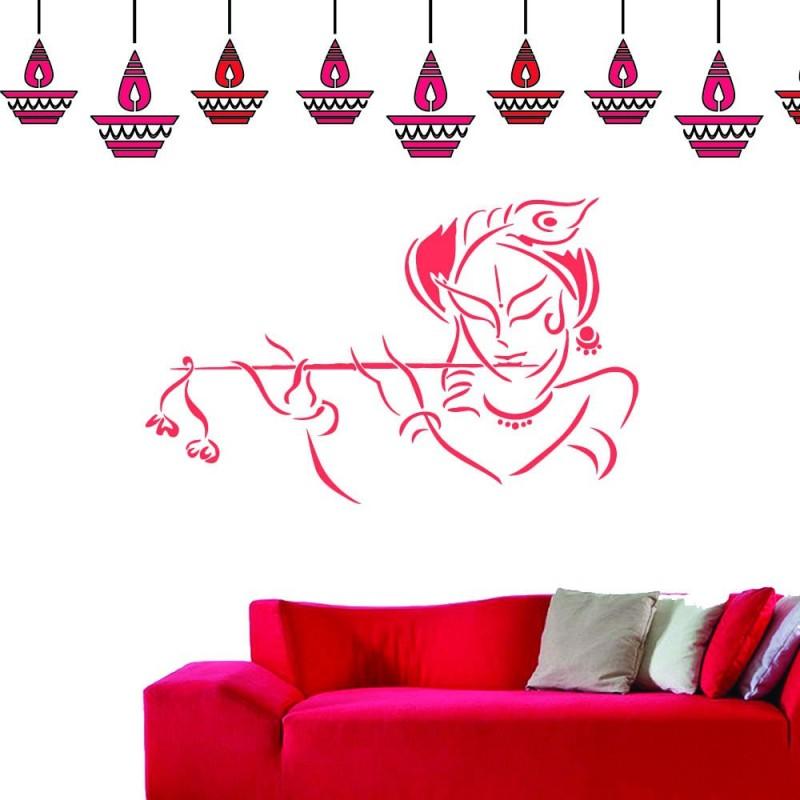 lashkara KD krishna Stencil(Pack of 3, krishna deeya)