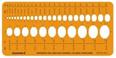 Isomars 2010 Designer Oval Brilliant Diamond Jewellery Template Stencil