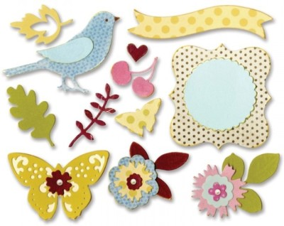 SIZZIX Thinlits Die Set 23PK - Floral Wreath 660256 Decorative Stencil