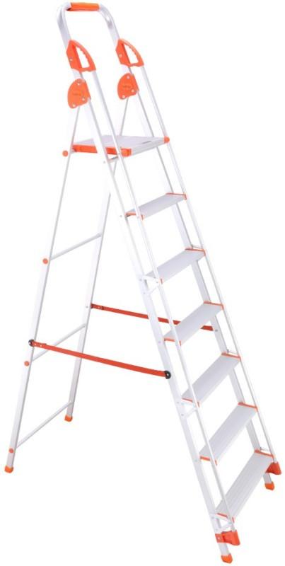 Bathla Baby 6 Step Aluminium Ladder(With Platform, Hand Rail)