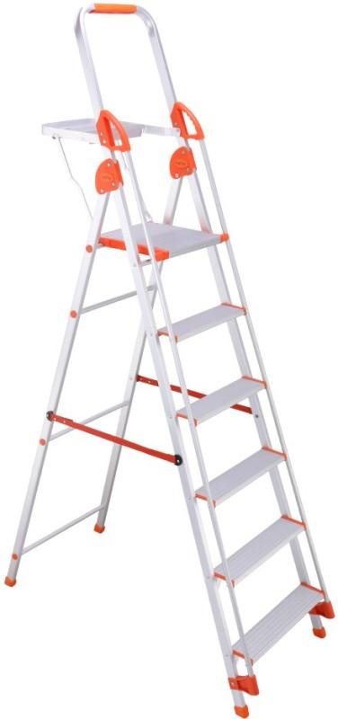 Bathla Baby 5 Step Aluminium Ladder(With Platform, Hand Rail)