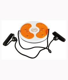 Mor Sporting Magnetic Waist Twister Disc With Hand Ropes Foot Massager Stepper