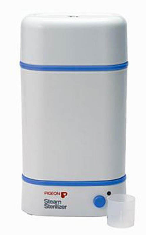 Pigeon Steam Sterilizer - 2 Slots(White)