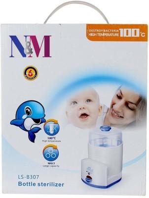 N&M 3 Feeding bottle Electric Steam Sterlizer - 3 Slots(White)