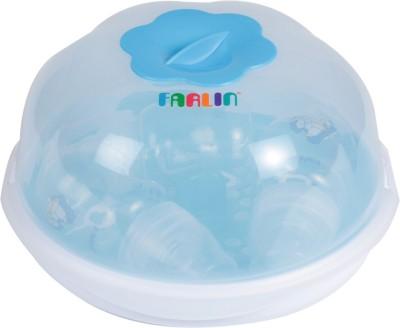 Farlin microwave sterilization set with 3pcs feeding bottles - Blue - 3 Slots