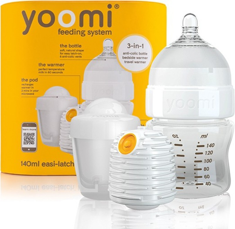 Yoomi 5oz bottle+ warmer + slow flow teat+Pod - 1 Slots(Orange)