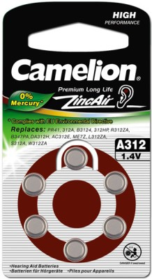 Camelion A312-BP6 Hearing Aid Battery