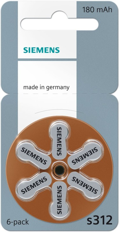Siemens Hearing aid Battery Size 312 (36 PCS)(Brown)