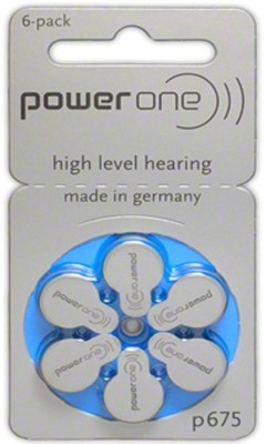 Power One P675 1.45V PR44 Hearing Aid Batteries