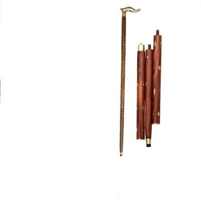 HANDICRAFT Sheesham Wood & Brass Made Unique Design Walking Design Polo Stick - 36 inch