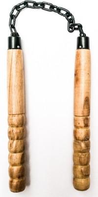 HE Retail Supplies Wood Nunchakoo nunchuk Gymnastic Stick - 10 inch