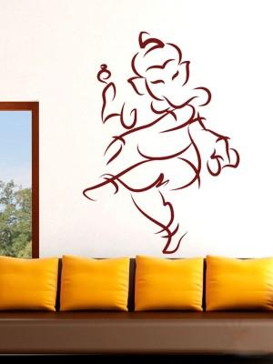Onebuy.in-Ganesh Dance Style Small PVC Sticker