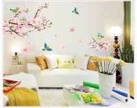 Oren Empower Peach Blossom Wall Sticker For Home Decoration(85 cm X cm 170, Multicolor)