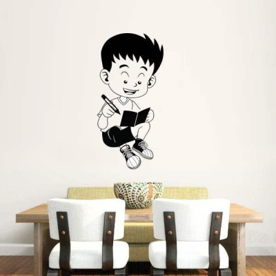 Hoopoe Decor Medium Studying boy Sticker