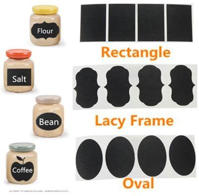 Stickonn Medium Vinyl Chalkboard Kitachen Jar Label Sticker