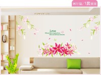 Oren Empower Blooming Lily Flower Wall Sticker(163 cm X cm 165, Multicolor)