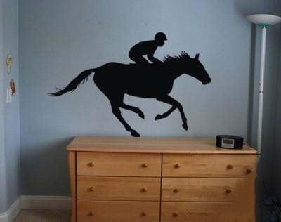 Onebuy.in-Jacky Riding Horse Medium PVC Sticker