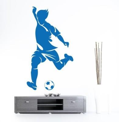Hoopoe Decor Medium Man playing football Sticker