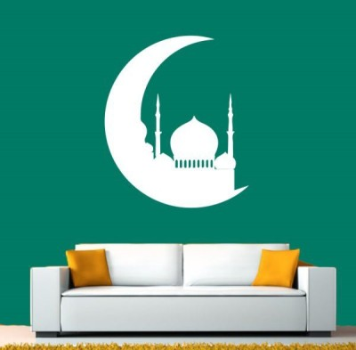 Hoopoe Decor Medium Beautiful mosque on the moon Sticker