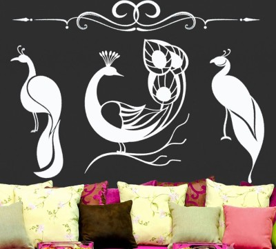 Onebuy.in-Three Peacock Large PVC Sticker