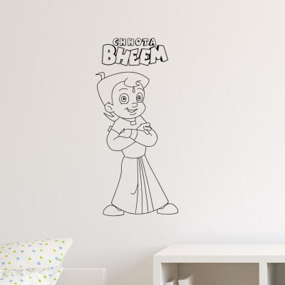 Chhota Bheem Medium Pigmented Polyvinyl Sticker