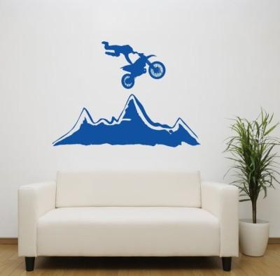Hoopoe Decor Medium Stunt on bike Sticker