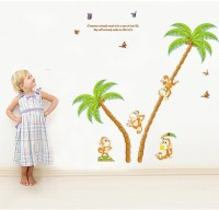 Oren Empower Monkey Climbing Trees Wall Stickers(125 cm X cm 120, Multicolor)