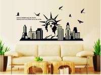 Oren Empower Glow In The Dark - Statue Of Liberty Wall Sticker(65 cm X cm 130, Black)