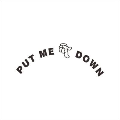 GrabDen Medium Put Me Down Toilet Sticker
