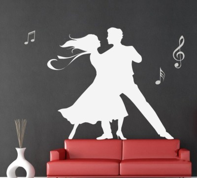 Onebuy.in-Couples Dance with Music Note Large PVC Sticker