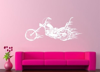 Hoopoe Decor Medium Fire Bike Sticker