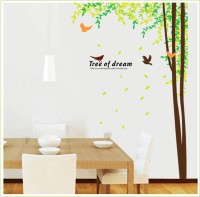 Oren Empower 2pcs/Set (Double Sheet) Hot Sale Wall Sticker Tree Birds Large Wall Sticker(210 cm X cm 150, Multicolor)