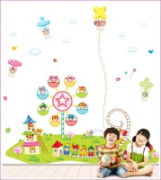 Oren Empower 3pc/Set (Pack Of Three) Growth Chart Kids Amusement Park Wall Sticker(210 cm X cm 205, Multicolor)