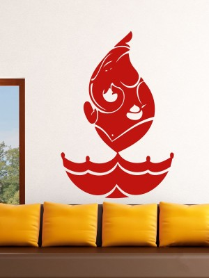 Onebuy.in-Ganesh in Diya Style Small PVC Sticker