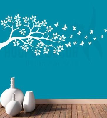 Hoopoe Decor Medium Branch and Beautiful Butterflies Sticker