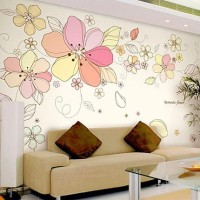 Oren Empower Romantic Flowers Wall Decals(Multicolor)