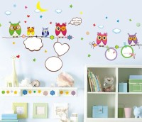 Oren Empower Creative Art Decorative Owl Wall Sticker(85 cm X cm 160, Multicolor)