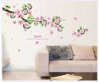 Oren Empower Peach Blossom Brach Wall Sticker(66 cm X cm 105, Multicolor)