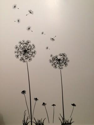 Grabden Extra Large Dandelion Flower Wall Sticker