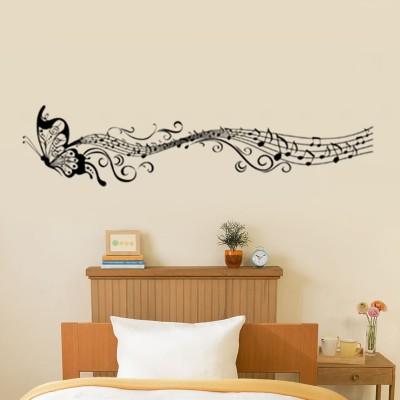 GrabDen Medium Butterfly with Musical Notes Wall Sticker