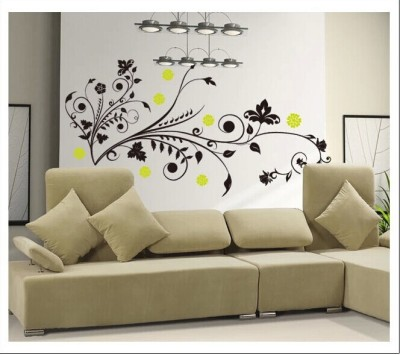 Oren Empower Tree Abstract & Green Flowers Wall Decals