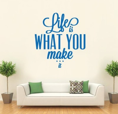Hoopoe Decor Medium Life is what you make it Sticker(Pack of 1)