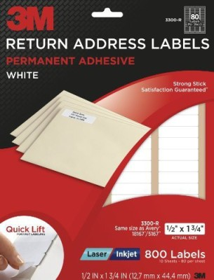 3M Office Products Small Addressing Labels Sticker