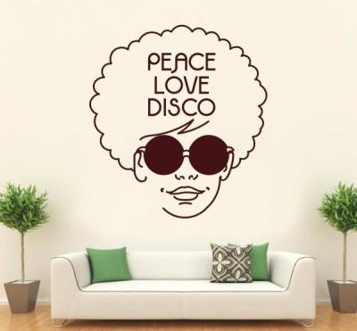 Hoopoe Decor Medium Peace, love and disco Sticker