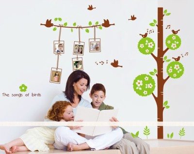 Oren Empower Songs Of Birds With Photo Frames Wall Decals