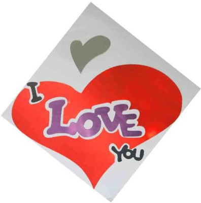 Toygully Large Mirror with Love Heart Almari Sticker
